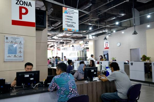 Konter HKI yang ada di Mall Pelayanan Publik di Siola