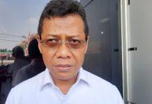 Kepala BBPJN VIII Surabaya, Ahmad Subki usai ditemui upacara peringatan hari bhakti PU ke 74 di BBPJN VIII