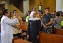 Tiga Pilar Jawa Timur saat memantau keamanan Gereja jelang perayaan Natal