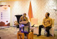 risma saat berbicara dihadapan WNI di kedubes RI di Angkara