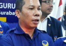 Ketua DPD Partai Nasdem surabaya Robert Simangungsong