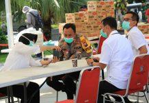 Terus Tingkatkan Upaya Tambahan Foto Pencegahan Covid-19, Wali Kota Risma Lakukan Audiensi dengan Kapolrestabes Surabaya