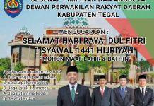 DPRD Kabupaten Tegal Menucapkan Selamat Hari raya Idul Fitri1441 H